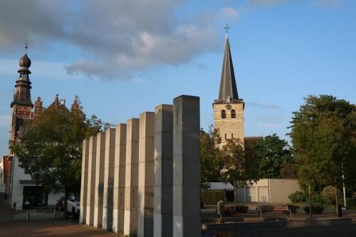 Zicht op de kerktoren van Zandhoven
