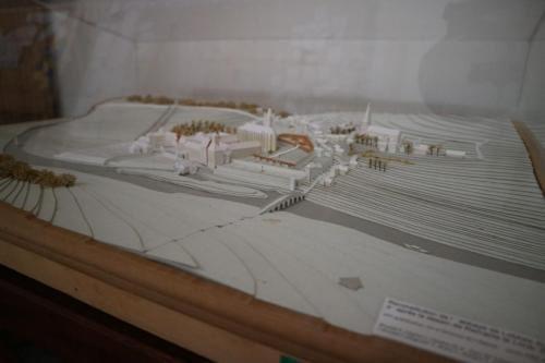 Maquette van de abdij van Lobbes
