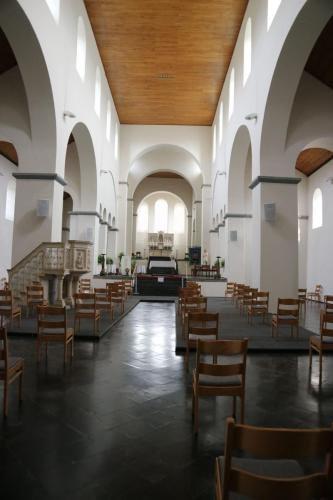 Interieur van de kerk van Lobbes