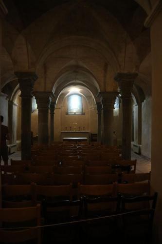"""In de """"kelder"""" van de kerk van Lobbes"""
