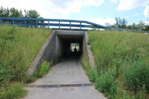 Tunneltje onder N54 tussen Fontaine l'Évêque en deelgemeente Leernes